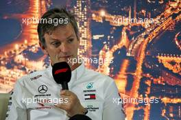 James Allison (GBR) Mercedes AMG F1 Technical Director in the FIA Press Conference. 20.02.2020. Formula One Testing, Day Two, Barcelona, Spain. Thursday.