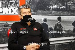 Guenther Steiner (ITA) Haas F1 Team Prinicipal in the FIA Press Conference. 28.08.2020. Formula 1 World Championship, Rd 7, Belgian Grand Prix, Spa Francorchamps, Belgium, Practice Day.