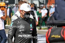 Valtteri Bottas (FIN) Mercedes AMG F1 on the grid. 30.08.2020. Formula 1 World Championship, Rd 7, Belgian Grand Prix, Spa Francorchamps, Belgium, Race Day.