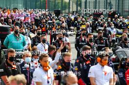 Grid atmosphere. 30.08.2020. Formula 1 World Championship, Rd 7, Belgian Grand Prix, Spa Francorchamps, Belgium, Race Day.