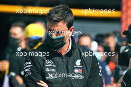Toto Wolff (GER) Mercedes AMG F1 Shareholder and Executive Director on the grid. 30.08.2020. Formula 1 World Championship, Rd 7, Belgian Grand Prix, Spa Francorchamps, Belgium, Race Day.