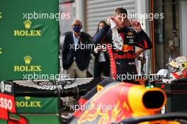 Max Verstappen (NLD) Red Bull Racing in parc ferme. 30.08.2020. Formula 1 World Championship, Rd 7, Belgian Grand Prix, Spa Francorchamps, Belgium, Race Day.