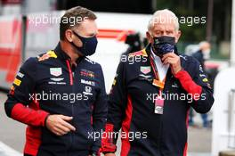 (L to R): Christian Horner (GBR) Red Bull Racing Team Principal with Dr Helmut Marko (AUT) Red Bull Motorsport Consultant. 29.08.2020. Formula 1 World Championship, Rd 7, Belgian Grand Prix, Spa Francorchamps, Belgium, Qualifying Day.