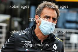 Cyril Abiteboul (FRA) Renault Sport F1 Managing Director. 30.08.2020. Formula 1 World Championship, Rd 7, Belgian Grand Prix, Spa Francorchamps, Belgium, Race Day.