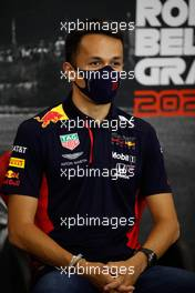 Alexander Albon (THA) Red Bull Racing in the FIA Press Conference. 27.08.2020. Formula 1 World Championship, Rd 7, Belgian Grand Prix, Spa Francorchamps, Belgium, Preparation Day.