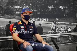 Max Verstappen (NLD) Red Bull Racing in the FIA Press Conference. 27.08.2020. Formula 1 World Championship, Rd 7, Belgian Grand Prix, Spa Francorchamps, Belgium, Preparation Day.