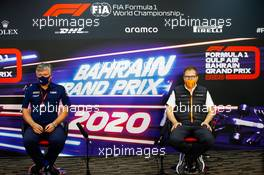 (L to R): Otmar Szafnauer (USA) Racing Point F1 Team Principal and CEO and Andreas Seidl, McLaren Managing Director in the FIA Press Conference. 27.11.2020. Formula 1 World Championship, Rd 15, Bahrain Grand Prix, Sakhir, Bahrain, Practice Day