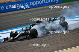 Valtteri Bottas (FIN) Mercedes AMG F1 W11 locks up under braking. 27.11.2020. Formula 1 World Championship, Rd 15, Bahrain Grand Prix, Sakhir, Bahrain, Practice Day