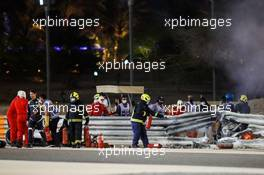Alan Van Der Merwe (RSA) FIA Medical Car Driver at the scene of the crash suffered by Romain Grosjean (FRA) Haas F1 Team. 29.11.2020. Formula 1 World Championship, Rd 15, Bahrain Grand Prix, Sakhir, Bahrain, Race Day.