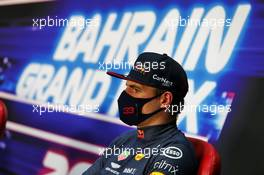 Max Verstappen (NLD) Red Bull Racing in the post qualifying FIA Press Conference. 28.11.2020. Formula 1 World Championship, Rd 15, Bahrain Grand Prix, Sakhir, Bahrain, Qualifying Day.