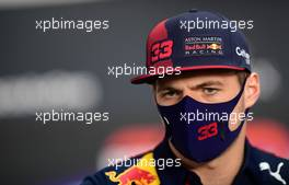 Max Verstappen (NLD) Red Bull Racing in the FIA Press Conference. 26.11.2020. Formula 1 World Championship, Rd 15, Bahrain Grand Prix, Sakhir, Bahrain, Preparation Day.