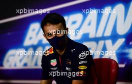 Alexander Albon (THA) Red Bull Racing in the FIA Press Conference. 26.11.2020. Formula 1 World Championship, Rd 15, Bahrain Grand Prix, Sakhir, Bahrain, Preparation Day.