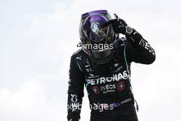 Race winner Lewis Hamilton (GBR) Mercedes AMG F1 celebrates in parc ferme. 16.08.2020. Formula 1 World Championship, Rd 6, Spanish Grand Prix, Barcelona, Spain, Race Day.
