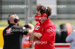 Mattia Binotto (ITA) Ferrari Team Principal on the grid. 02.08.2020. Formula 1 World Championship, Rd 4, British Grand Prix, Silverstone, England, Race Day.