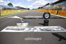 Grid atmosphere - winners' trophy. 02.08.2020. Formula 1 World Championship, Rd 4, British Grand Prix, Silverstone, England, Race Day.