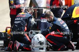 Red Bull Racing on the grid. 02.08.2020. Formula 1 World Championship, Rd 4, British Grand Prix, Silverstone, England, Race Day.
