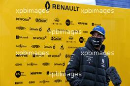 Daniel Ricciardo (AUS) Renault F1 Team with the media. 09.10.2020. Formula 1 World Championship, Rd 11, Eifel Grand Prix, Nurbugring, Germany, Practice Day.