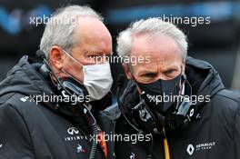 (L to R): Jerome Stoll (FRA) Renault Sport F1 President with Jean-Dominique Senard (FRA) Renault Chairman on the grid. 11.10.2020. Formula 1 World Championship, Rd 11, Eifel Grand Prix, Nurbugring, Germany, Race Day.