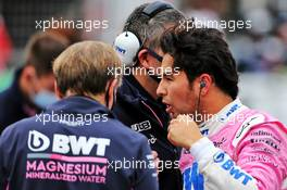 Sergio Perez (MEX) Racing Point F1 Team on the grid. 11.10.2020. Formula 1 World Championship, Rd 11, Eifel Grand Prix, Nurbugring, Germany, Race Day.