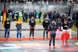 Max Verstappen (NLD) Red Bull Racing as the grid observes the national anthem. 11.10.2020. Formula 1 World Championship, Rd 11, Eifel Grand Prix, Nurbugring, Germany, Race Day.