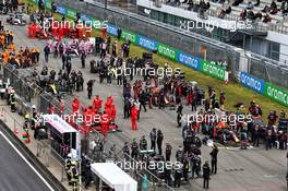 The grid before the start of the race. 11.10.2020. Formula 1 World Championship, Rd 11, Eifel Grand Prix, Nurbugring, Germany, Race Day.