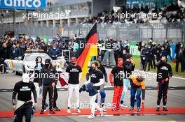 Drivers as the grid observes the national anthem. 11.10.2020. Formula 1 World Championship, Rd 11, Eifel Grand Prix, Nurbugring, Germany, Race Day.