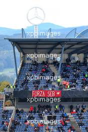 Circuit atmosphere - fans in the grandstand. 11.10.2020. Formula 1 World Championship, Rd 11, Eifel Grand Prix, Nurbugring, Germany, Race Day.