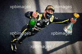 Daniel Ricciardo (AUS) Renault F1 Team celebrates his third position on the podium. 11.10.2020. Formula 1 World Championship, Rd 11, Eifel Grand Prix, Nurbugring, Germany, Race Day.