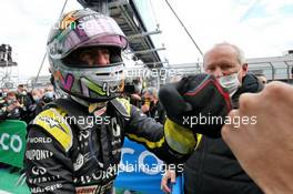 Daniel Ricciardo (AUS) Renault F1 Team celebrates his third position in parc ferme. 11.10.2020. Formula 1 World Championship, Rd 11, Eifel Grand Prix, Nurbugring, Germany, Race Day.