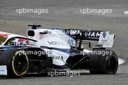 George Russell (GBR) Williams Racing FW43 with a puncture. 11.10.2020. Formula 1 World Championship, Rd 11, Eifel Grand Prix, Nurbugring, Germany, Race Day.