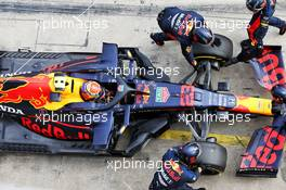 Alexander Albon (THA) Red Bull Racing RB16 retired from the race. 11.10.2020. Formula 1 World Championship, Rd 11, Eifel Grand Prix, Nurbugring, Germany, Race Day.