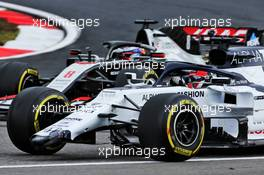 Daniil Kvyat (RUS) AlphaTauri AT01 with a broken front wing. 11.10.2020. Formula 1 World Championship, Rd 11, Eifel Grand Prix, Nurbugring, Germany, Race Day.