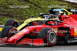 Charles Leclerc (MON) Ferrari SF1000 and Daniel Ricciardo (AUS) Renault F1 Team RS20 battle for position. 11.10.2020. Formula 1 World Championship, Rd 11, Eifel Grand Prix, Nurbugring, Germany, Race Day.