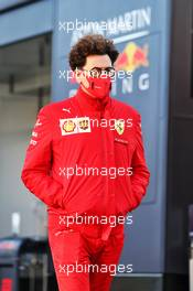 Mattia Binotto (ITA) Ferrari Team Principal. 10.10.2020. Formula 1 World Championship, Rd 11, Eifel Grand Prix, Nurbugring, Germany, Qualifying Day.