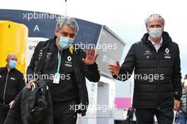(L to R): Luca de Meo (ITA) Groupe Renault Chief Executive Officer with Jean-Dominique Senard (FRA) Renault Chairman. 11.10.2020. Formula 1 World Championship, Rd 11, Eifel Grand Prix, Nurbugring, Germany, Race Day.