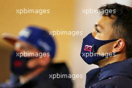 Alexander Albon (THA) Red Bull Racing in the FIA Press Conference. 08.10.2020. Formula 1 World Championship, Rd 11, Eifel Grand Prix, Nurbugring, Germany, Preparation Day.