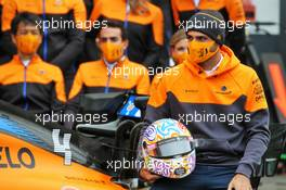 Carlos Sainz Jr (ESP) McLaren - World Mental Health Day, to be observed on 10th October. 08.10.2020. Formula 1 World Championship, Rd 11, Eifel Grand Prix, Nurbugring, Germany, Preparation Day.