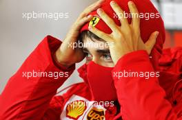 Charles Leclerc (MON) Ferrari in the FIA Press Conference. 08.10.2020. Formula 1 World Championship, Rd 11, Eifel Grand Prix, Nurbugring, Germany, Preparation Day.