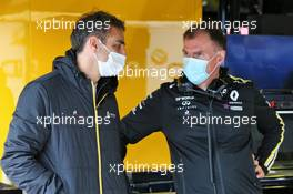 (L to R): Cyril Abiteboul (FRA) Renault Sport F1 Managing Director and Alan Permane (GBR) Renault F1 Team Trackside Operations Director. 08.10.2020. Formula 1 World Championship, Rd 11, Eifel Grand Prix, Nurbugring, Germany, Preparation Day.