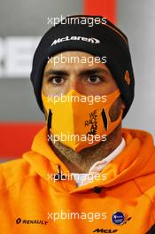 Carlos Sainz Jr (ESP) McLaren in the FIA Press Conference. 08.10.2020. Formula 1 World Championship, Rd 11, Eifel Grand Prix, Nurbugring, Germany, Preparation Day.