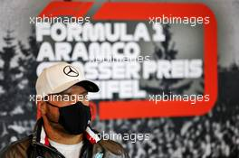 Valtteri Bottas (FIN) Mercedes AMG F1 in the FIA Press Conference. 08.10.2020. Formula 1 World Championship, Rd 11, Eifel Grand Prix, Nurbugring, Germany, Preparation Day.