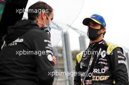 Daniel Ricciardo (AUS) Renault F1 Team with Karel Loos (BEL) Renault F1 Team Race Engineer. 17.07.2020. Formula 1 World Championship, Rd 3, Hungarian Grand Prix, Budapest, Hungary, Practice Day.