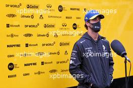 Daniel Ricciardo (AUS) Renault F1 Team with the media. 17.07.2020. Formula 1 World Championship, Rd 3, Hungarian Grand Prix, Budapest, Hungary, Practice Day.