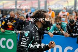 Race winner Lewis Hamilton (GBR) Mercedes AMG F1 celebrates in parc ferme. 19.07.2020. Formula 1 World Championship, Rd 3, Hungarian Grand Prix, Budapest, Hungary, Race Day.