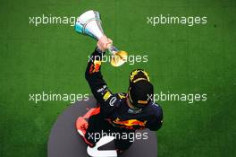 Max Verstappen (NLD) Red Bull Racing celebrates his third position on the podium. 19.07.2020. Formula 1 World Championship, Rd 3, Hungarian Grand Prix, Budapest, Hungary, Race Day.
