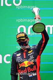 Max Verstappen (NLD) Red Bull Racing celebrates his second position on the podium. 19.07.2020. Formula 1 World Championship, Rd 3, Hungarian Grand Prix, Budapest, Hungary, Race Day.