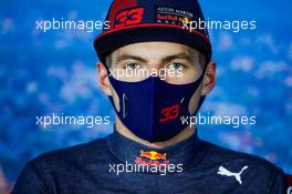 Max Verstappen (NLD) Red Bull Racing in the post race FIA Press Conference. 19.07.2020. Formula 1 World Championship, Rd 3, Hungarian Grand Prix, Budapest, Hungary, Race Day.