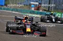 Max Verstappen (NLD) Red Bull Racing RB16 celebrates his second position at the end of the race. 19.07.2020. Formula 1 World Championship, Rd 3, Hungarian Grand Prix, Budapest, Hungary, Race Day.