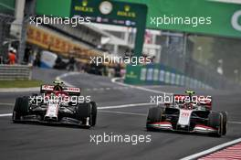 Antonio Giovinazzi (ITA) Alfa Romeo Racing C39 and Kevin Magnussen (DEN) Haas VF-20 battle for position. 19.07.2020. Formula 1 World Championship, Rd 3, Hungarian Grand Prix, Budapest, Hungary, Race Day.
