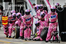 Racing Point F1 Team makes a pit stop. 19.07.2020. Formula 1 World Championship, Rd 3, Hungarian Grand Prix, Budapest, Hungary, Race Day.